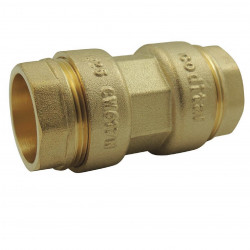 CODITAL Brass compression fittings ø 25 mm for PE pipe: Coupling sleeve raccord laiton