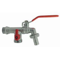 "ezfitt Double garden faucet between 1/2"" outlet 3/4"" watering"