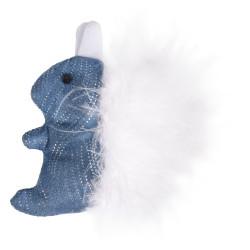Flamingo Pet Products Jouet Ecureuil Medy bleu. taille 8.5 x 9.5 cm. pour chat. Jeux