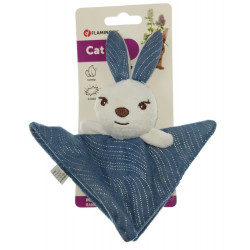 Flamingo Pet Products Medy blue rabbit toy. size 13 x 19.5 cm. for cats. Games
