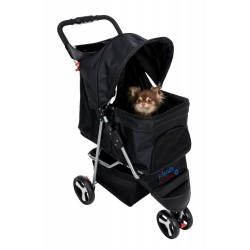 TR-28958 Trixie Cochecito para perro negro Cochecito y carrito