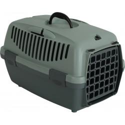 zolux Panier de transport GULLIVER 1 en plastique recyclé. 32 x 48 x H 30.5 cm. pour chien. Cage de transport