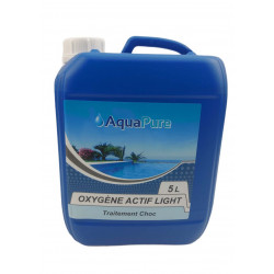 Générique Active oxygen light liquid 5 Liters, AQUAPURE for your pool. less than 12 percent Treatment product