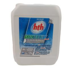 HTH Verde a azul, choque, 5 litros. Alcance 2021 AWC-500-8183 Produto de tratamento