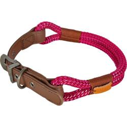 zolux IMAO Hyde park collar. 6 mm x 40 cm. fuchsia . for dog. Collier nylon