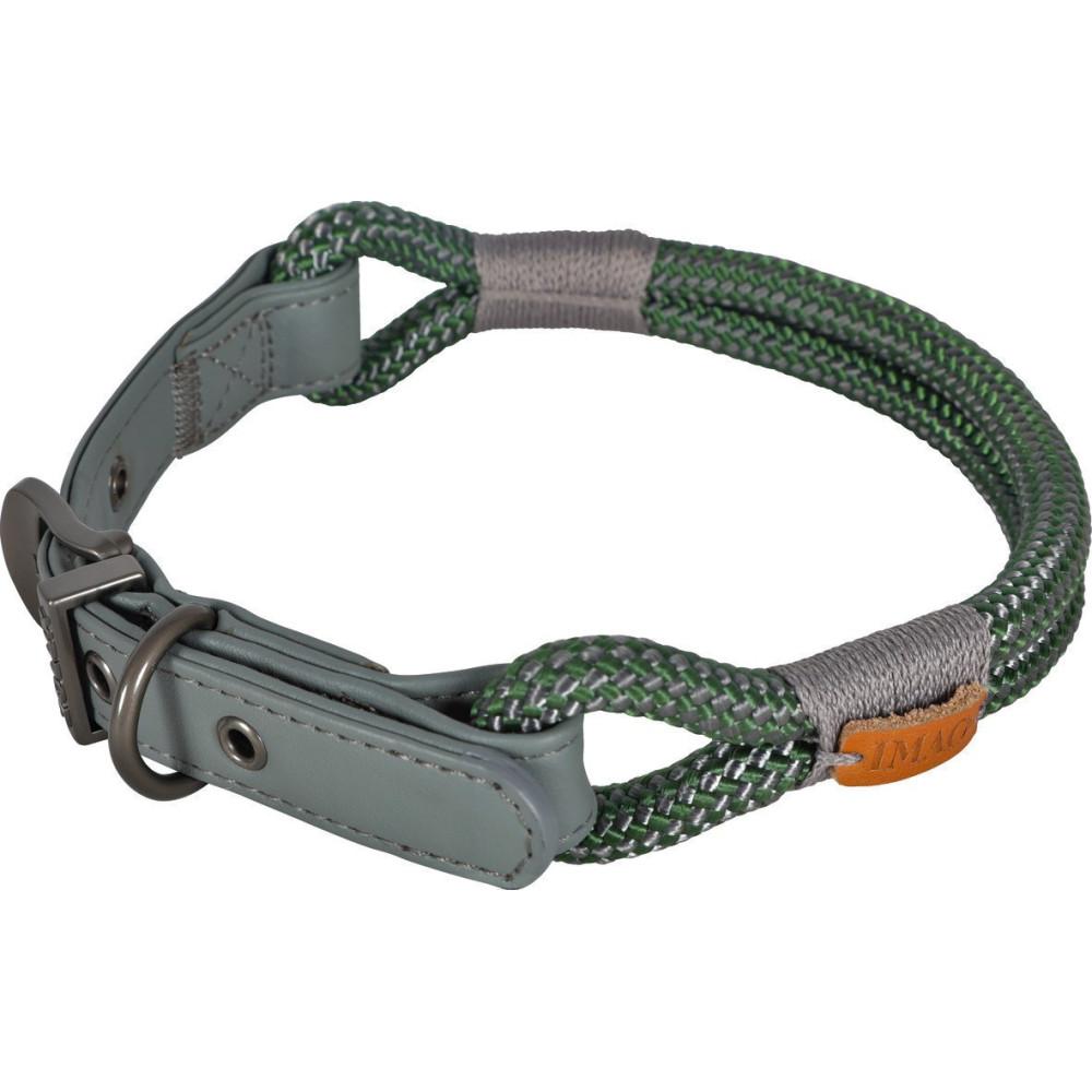 zolux IMAO Hyde park collar. 6 mm x 40 cm. khaki . for dog. Collier nylon