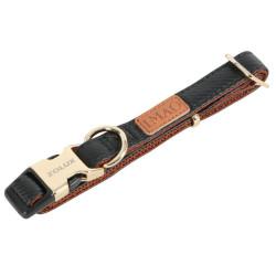 zolux IMAO MAYFAIR collar. 20 mm. adjustable. black color. for dog. collier et laisse
