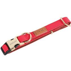 zolux Collier IMAO MAYFAIR. 20 mm. réglable. couleur rouge. pour chien. collier et laisse