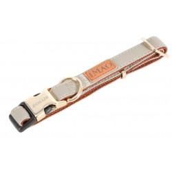zolux Collier IMAO MAYFAIR. 20 mm. réglable. couleur taupe. pour chien. collier et laisse