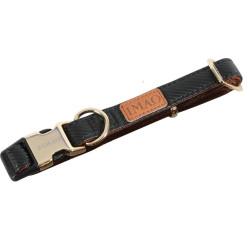 zolux IMAO MAYFAIR collar. 25 mm. adjustable. black color. for dog. collier et laisse