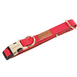 zolux Collier IMAO MAYFAIR. 25 mm. réglable. couleur rouge. pour chien. collier et laisse