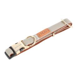 zolux Collier IMAO MAYFAIR. 25 mm. réglable. couleur taupe. pour chien. collier et laisse
