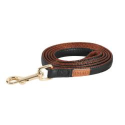 zolux IMAO MAYFAIR lead. 15 mm. x 1.2 meter. black color. for dog. dog leash