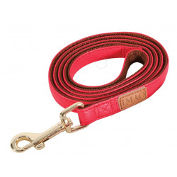 zolux IMAO MAYFAIR lead. 15 mm. x 1.2 meter. red color. for dog. dog leash