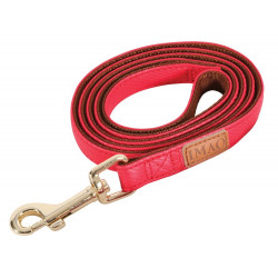 zolux IMAO MAYFAIR lead. 25 mm. x 1.2 meter. red color. for dog. dog leash