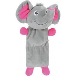 zolux JULES TOUDOUX plush toy. Grey elephant. 17 x 26 x 9 cm. for dog. Peluche pour chien