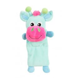 zolux JULES TOUDOUX plush toy. turquoise cow. 17 x 26 x 9 cm. for dog. Peluche pour chien
