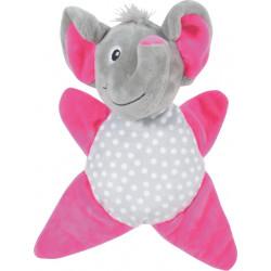 zolux INES TOUDOUX plush toy. Grey elephant. 18 x 22 x 9 cm. for dog. Peluche pour chien