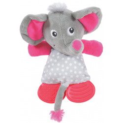 zolux LOLA TOUDOUX plush toy. Grey elephant. 16 x 22 x 9 cm. for dog. Peluche pour chien