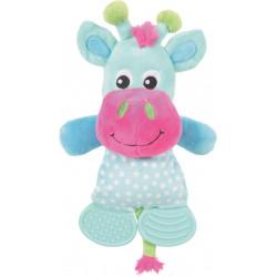zolux LOLA TOUDOUX plush toy. Turquoise cow. 16 x 22 x 9 cm. for dog. Peluche pour chien
