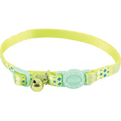 zolux Collar ETHNIC nylon adjustable from 17 to 30 cm. green . for cat. collier laisse cage