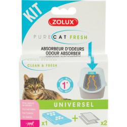 zolux Purecat fresh. odour control kit for cat toilet house. litter accessory