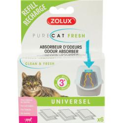 zolux refill anti-odour purecat fresh. for cat toilet house. litter accessory