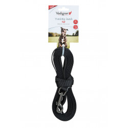 Vadigran Flat nylon tracking leash. 5 meters x 15 mm. black color. for dogs. dog leash