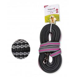 Vadigran Nylon training lead. 10 meters x 25 mm. pink. for dog. dog leash