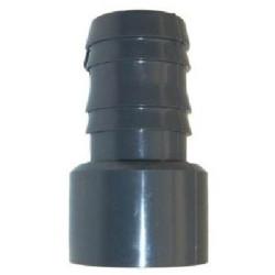 Diâmetro de ligação ranhurado 38 - 32 ø50 macho para ser colado. SPO10503832 LIGAÇÃO POR PRESSÃO DE PVC