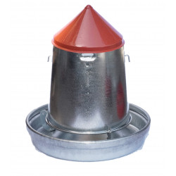 Vadigran Galvanized feed silo. capacity 9 litres. ø 33 cm. for poultry. Mangeoire