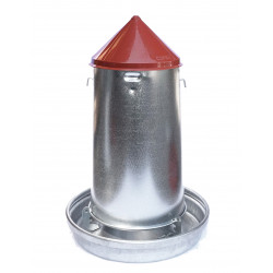 Vadigran Galvanized feed silo. capacity 14 litres. ø 33 cm. for poultry. Mangeoire