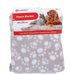 Flamingo Pet Products DARIO blanket. Size L. 100 x 150 cm. beige. for dogs. Tapis chien