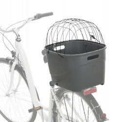 Trixie Basket for luggage rack. Dimensions: 36 × 47 × 46 cm. Up to: 6 kg. Colour: grey Bicycle basket