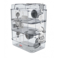 zolux Cage Trio rody3. white color. size 41 x 27 x 53 cm H. for rodent Cage