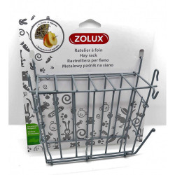 zolux Grey metal hay rack. 20 x 6 x 18 cm. for rodents. Raterier
