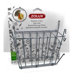 zolux Râtelier à foin en métal gris. 20x 6 x 18 cm. pour rongeur. Ratelier a nourriture