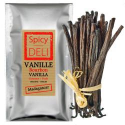 Spicy Deli 5 Gourmet Black Vanilla-Schoten aus Madagaskar - Größe: 12 bis 14 cm Vanille-01 epicerie