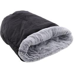 Flamingo Pet Products DORSA 2 in 1 sleeping bag black. ø 36 x 60 cm. for cats. Sleeping