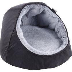 Flamingo Pet Products Igloo cushion DORSA black. ø 40 x 36 cm. for cats. Sleeping