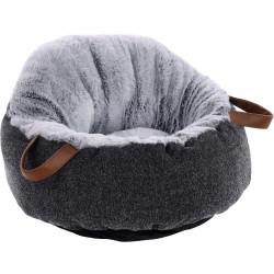 Flamingo Pet Products POFA cat cushion grey. ø 48 cm. for cats. Sleeping
