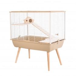 zolux Cage NEO SILTA. hauteur 87.5 cm avec pieds. couleur beige. pour petits rongeurs. Cage