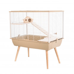 zolux Cage NEO SILTA. size 77.5 x 47 x height 87.5 cm with feet. beige color. for small rodents. Cage