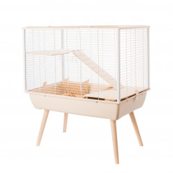 zolux Beige Neo MUKI cage. 77.5 x 47.5 x height 87.5 cm. for large rodents. Cage