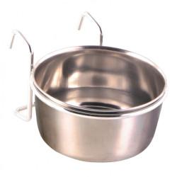 Comedero de acero inoxidable con soporte 300 ml ø 9 cm Comederos, Trixie TR-5494 Comedero de agua