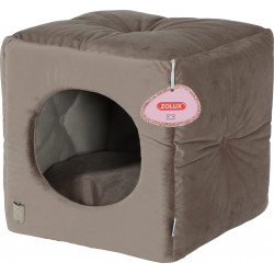 zolux Chesterfield Chambord Taupe cube. 35 cm. for cats. Sleeping