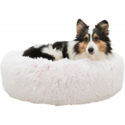 Trixie Round Harvey bed white-pink ø 50 cm. for cat and small dog . Sleeping