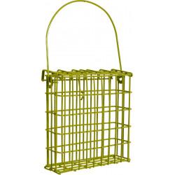 Porta barras de metal com graxa . verde . para aves. ZO-170376 Comedouros exteriores