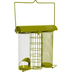 zolux Green trio feeder. 20 x 9 x height 22.5 cm . for birds Outdoor feeders