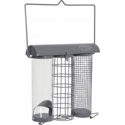 zolux Slate trio feeder. 20 x 9 x height 22.5 cm . for birds Outdoor feeders